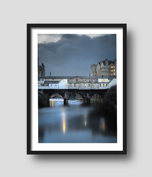 Moody skies above Pulteney Bridge