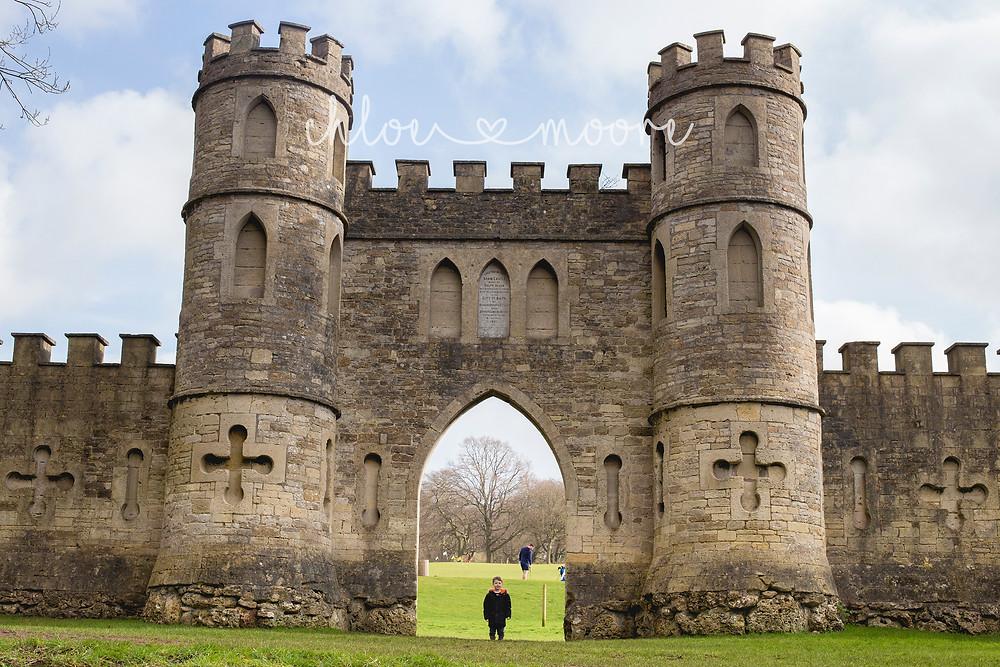 City of Bath, England. Sham Castle, skyline walk . Activities for children, summer holidays
