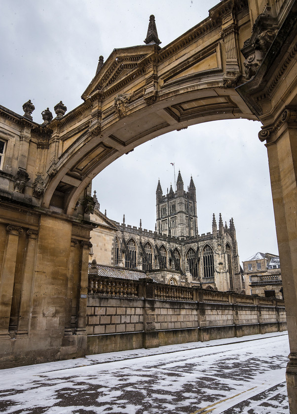 Bath Abbey Snow
