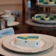 Blue Battenberg Cake