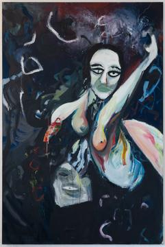 Elektasi, 180 x 120 cm, oil and egg tempera on canvas, 2020