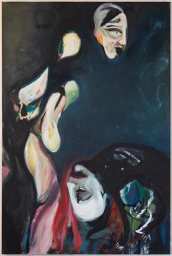 XIII, 180 x 120 cm, egg tempera on canvas, 2020