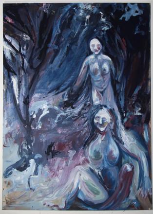Untitled, 180 x 130 cm, egg tempera on canvas, 2018