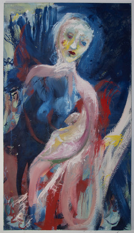 Artena, 180 x 100 cm, egg tempera on canvas, 2018