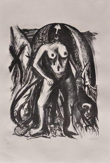 Untitled, 78 x 53 cm, lithograph on paper, 2018
