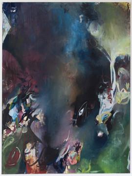 Draskopal, 200 x 150 cm, egg tempera on canvas, 2021
