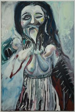 Exciva tenur, 180 x 120 cm, egg tempera on canvas, 2020
