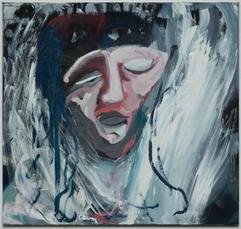 Vikapostrel, 80 x 85 cm, egg tempera on canvas, 2020