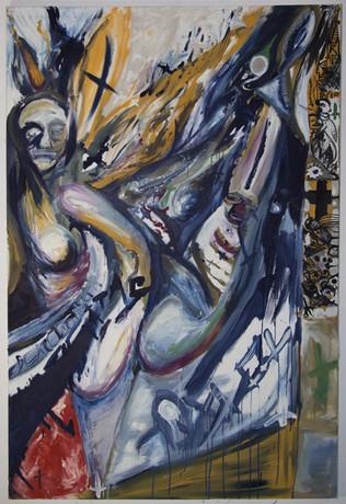 Untitled, 180 x 120 cm, egg tempera on canvas, 2018