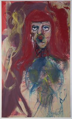 Fresna Monae, 150 x 90 cm, egg tempera on canvas, 2018-2019