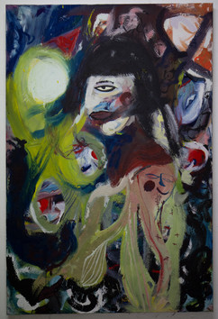 Epalenism enera, 180 x 120 cm, egg tempera on canvas, 2019