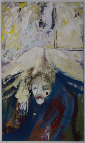 Langliea, 160 x 95 cm, egg tempera on canvas, 2018