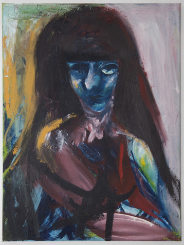 Munni, 80 x 60 cm, egg tempera on canvas, 2018