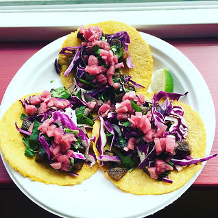 Lengua, Purple Cabbage, Pickled red Onio
