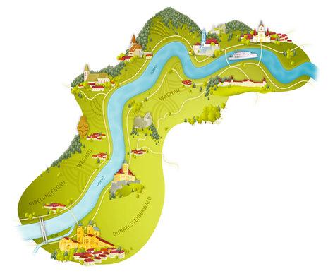 DDSG Blue Danube – Streckenabschnitte der Donau