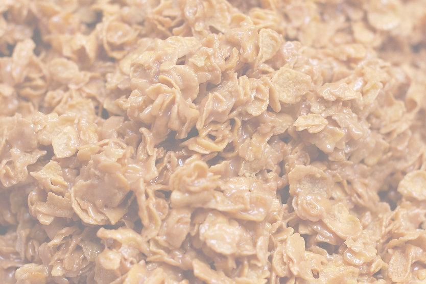 up close homemade peanut butter cornflake candy