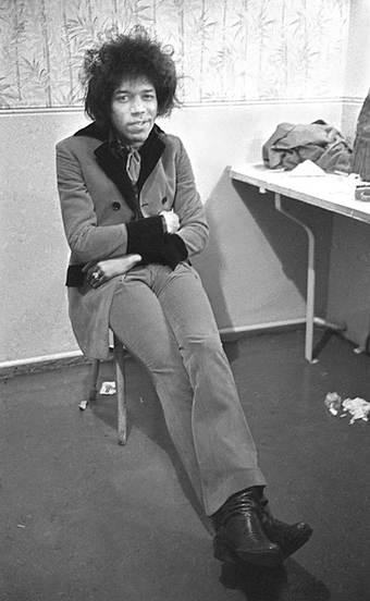 Jimi Hendrix Backstage 1967
