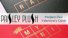 Modern Desi Valentine's Cards