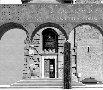 Facade restoration of Palestrina Cathedral. 2017