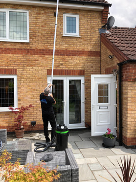 Gutter Cleaning with long pole