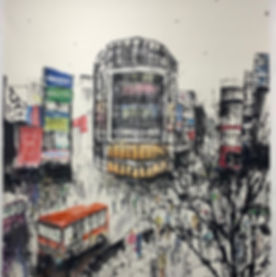 #shibuya #somewhere #art #suiboku #japan
