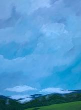 Earth and Sky_Fog_2019_Acrylic on plywoo
