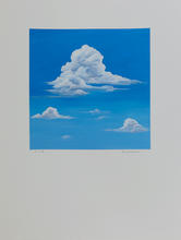 White Clouds_#7_2019_Acrylic on Watercol