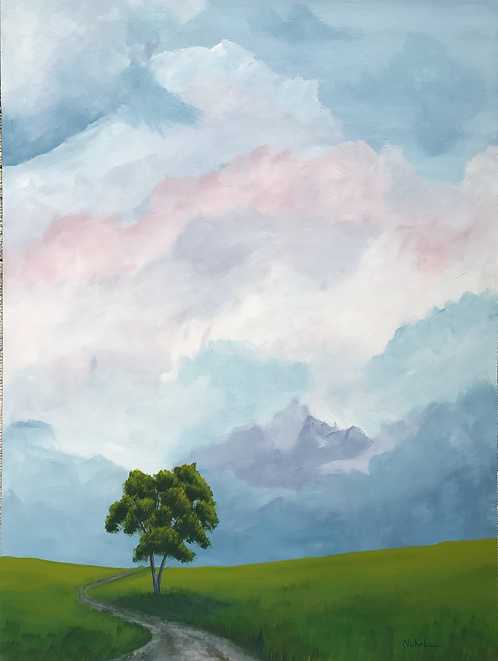 Tree By the Road - Earth and Sky Series