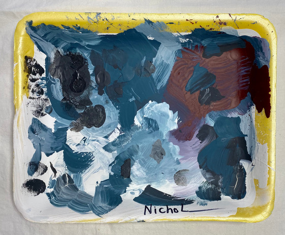 paint tray_#55_2019_acrylic on foam meat