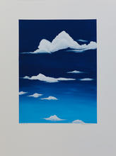 White Clouds_#4_2019_Acrylic on Watercol