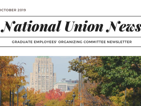 National Union Newsletter