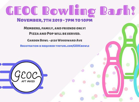 GEOC Bowling Bash!