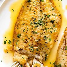 Fish Fillet with Lemon Butter Sauce