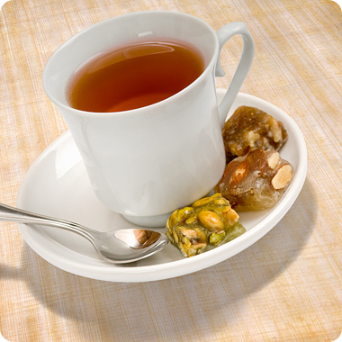 Supreme Nuts served with tea