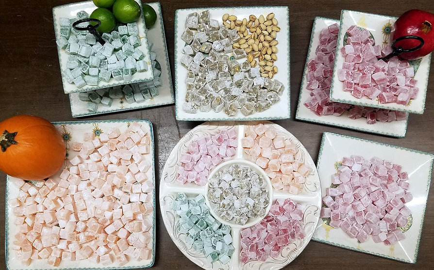 Nory candy in dishes