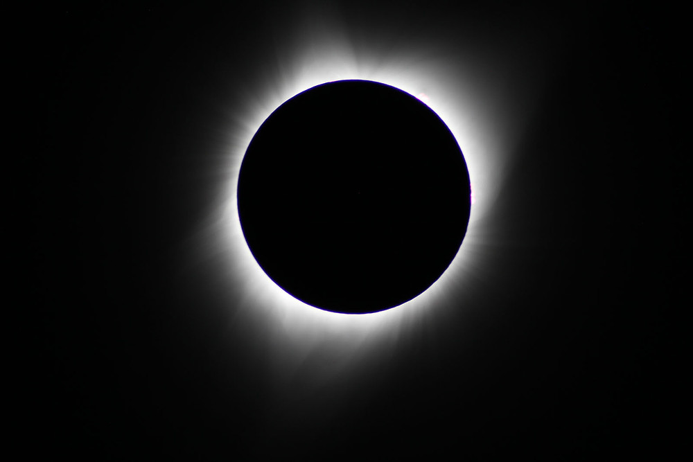 Totality from Madras, Oregon