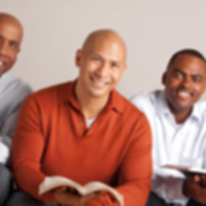 Diverse group of men in a small group..j
