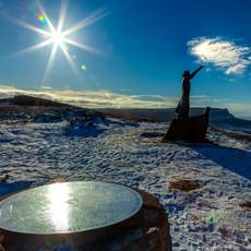 Manannán Mac Lir Statue & sunburst
