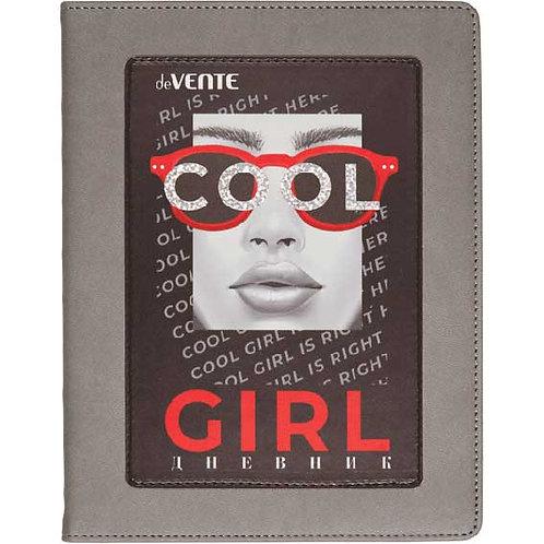 "Дневник 1-11кл. deVENTE тв.обл. ""Cool Girl"" 2020086 кож.зам.,поролон,апплик.,фол"