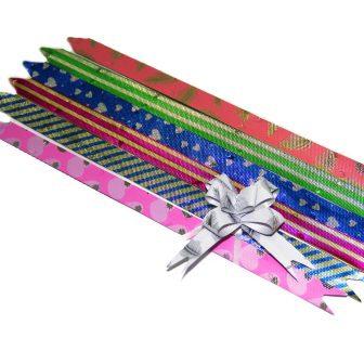 Бант-бабочка 12*250 перламутр с рисунком уп.10шт/30000шт А-130, Р3