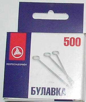 Булавки 30мм (500шт) С3-0545/500