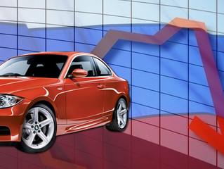 Продажи автомобилей в России снизились на 36%