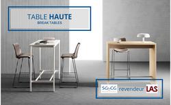 SGCG Table Haute Las Mobili - T