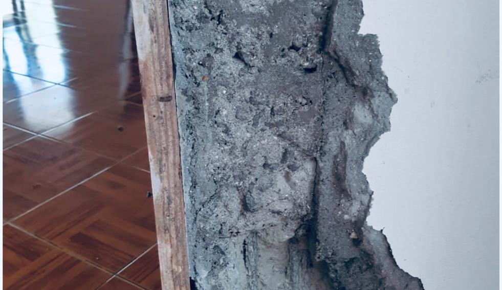 Rénover le béton et la cadre de porte - Photo Avant