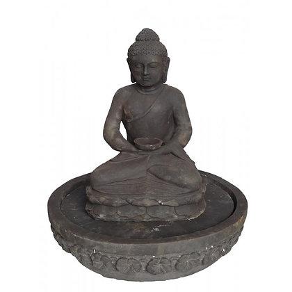 Fontaine bouddha pierre
