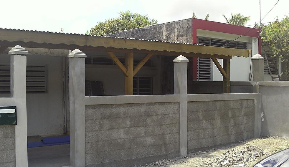 Travaux d'un mur de clôture en Guadeloupe - Photo 4