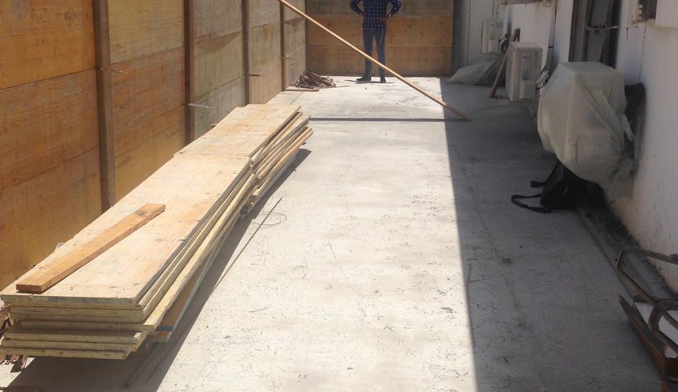Agencement d'une terrasse - avant travaux - Guadeloupe