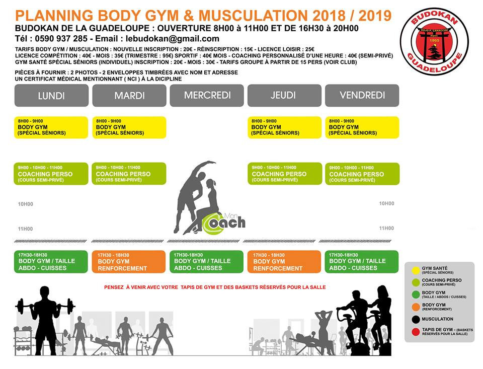 Budokan - Planning Bodygym et Musculation