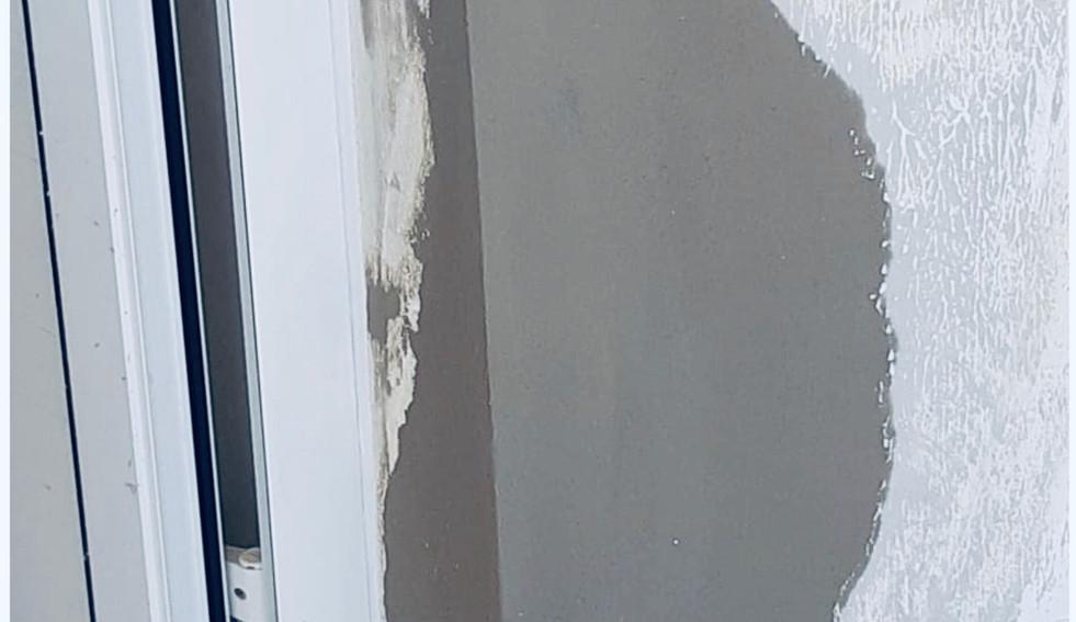 Rénover le béton et la cadre de porte - Photo Après