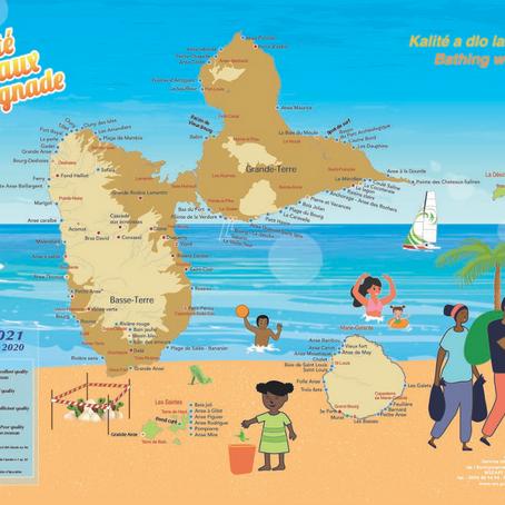 Qualité des eaux de baignade des Îles de Guadeloupe